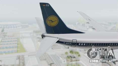 Boeing 737-300 para GTA San Andreas traseira esquerda vista