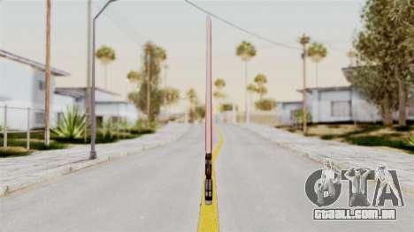 Star Wars LightSaber Red para GTA San Andreas segunda tela