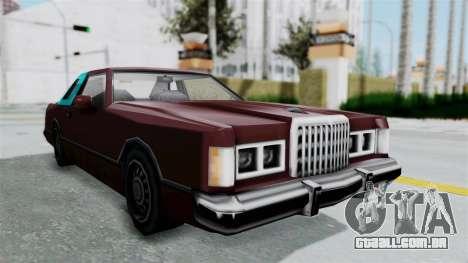 Beta VC Cougar para GTA San Andreas traseira esquerda vista