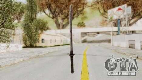 Skyrim Iron Wakizashi para GTA San Andreas segunda tela