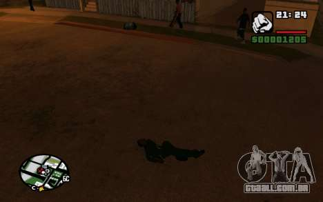 CJ Animation ped para GTA San Andreas por diante tela