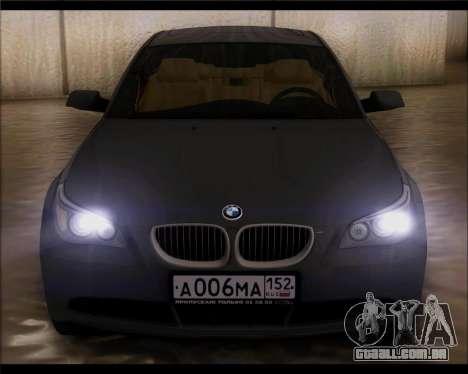 BMW 530xd stock para GTA San Andreas vista direita