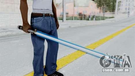 Star Wars LightSaber Blue para GTA San Andreas terceira tela
