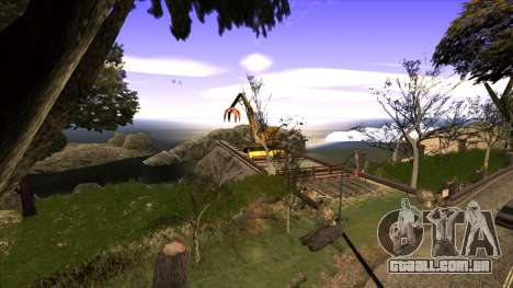 A construção da ponte, e uma densa floresta para GTA San Andreas segunda tela