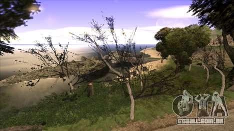 A construção da ponte, e uma densa floresta para GTA San Andreas quinto tela