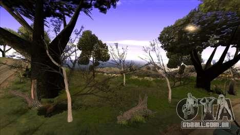 A construção da ponte, e uma densa floresta para GTA San Andreas terceira tela
