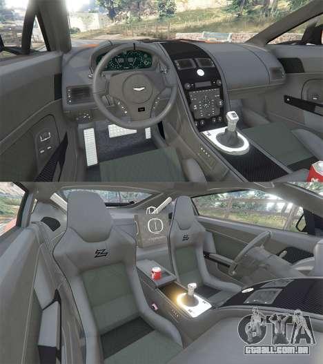 GTA 5 Aston Martin V12 Zagato v1.2 traseira direita vista lateral