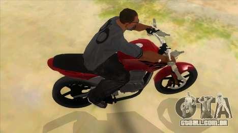 Honda Twister Stunt para GTA San Andreas vista interior