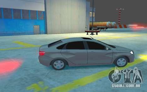 Lada Vesta para GTA 4 vista de volta