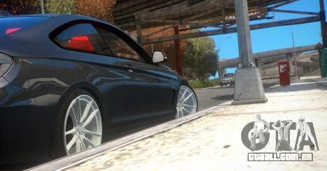 BMW 435i Coupe para GTA 4 traseira esquerda vista