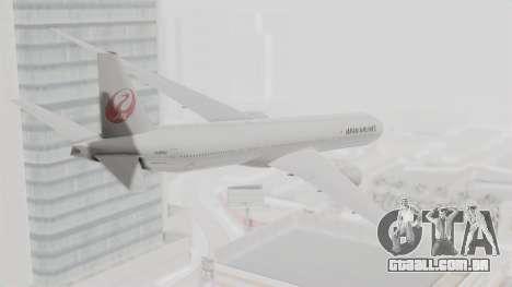 Boeing 777-9X Japan Airlines para GTA San Andreas esquerda vista