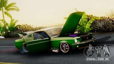 Ford Mustang Fast_back para GTA San Andreas traseira esquerda vista