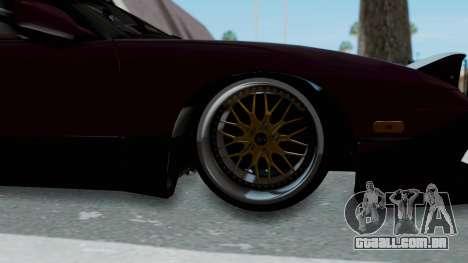Nissan 180SX TOD para GTA San Andreas vista traseira