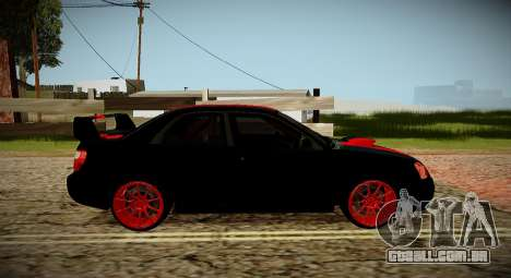 Subaru Impreza WRX STi Besta Negra Japão para GTA San Andreas vista direita
