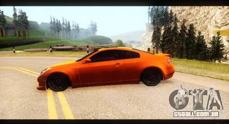 Infiniti G35 para GTA San Andreas vista direita