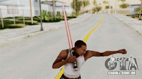 Star Wars LightSaber Red para GTA San Andreas terceira tela