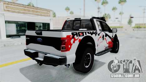 Ford F-150 Raptor 2015 para GTA San Andreas esquerda vista