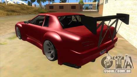 Elegy Tio Sam Style para GTA San Andreas traseira esquerda vista
