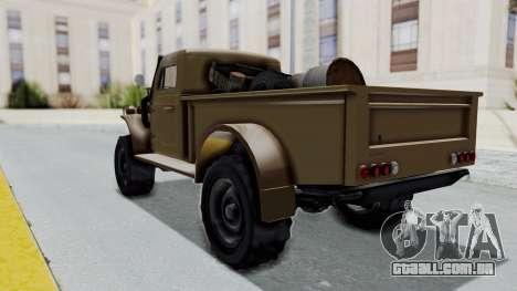 GTA 5 Bravado Duneloader Cleaner para GTA San Andreas traseira esquerda vista