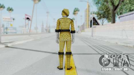 Power Rangers RPM - Yellow para GTA San Andreas terceira tela