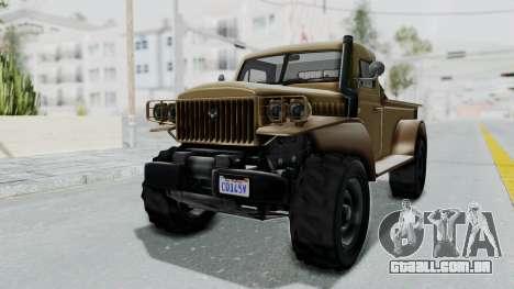 GTA 5 Bravado Duneloader Cleaner para GTA San Andreas vista direita