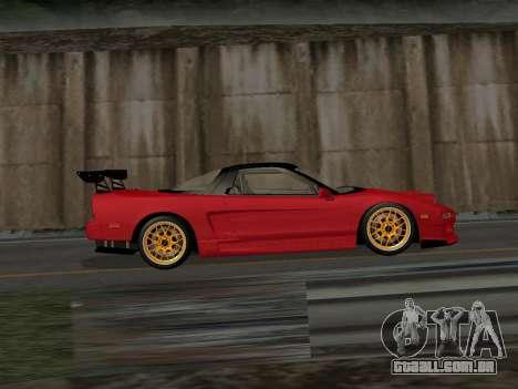 Honda NSX (NA1) Time Attack para GTA San Andreas esquerda vista