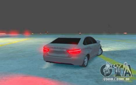 Lada Vesta para GTA 4 vista direita