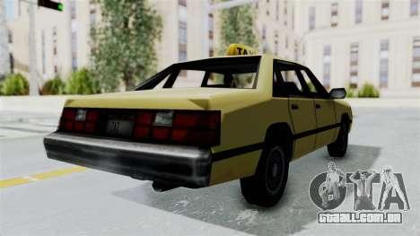 GTA Vice City - Taxi para GTA San Andreas esquerda vista