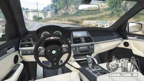 GTA 5 BMW X5 M traseira direita vista lateral