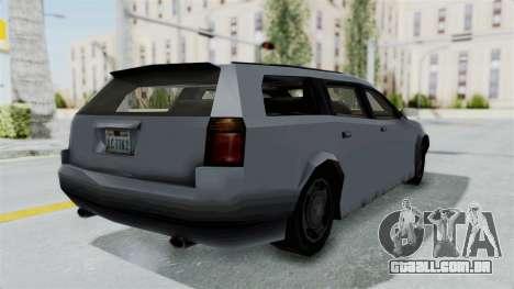 GTA LCS Sindacco Argento v2 para GTA San Andreas traseira esquerda vista