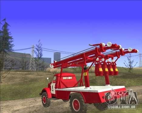 GÁS 63 APG-14 caminhão de bombeiros para GTA San Andreas traseira esquerda vista