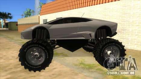 Lamborghini Reventon Monster Truck para GTA San Andreas esquerda vista