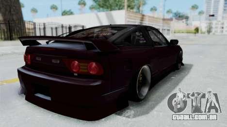 Nissan 180SX TOD para GTA San Andreas traseira esquerda vista