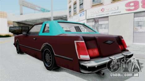 Beta VC Cougar para GTA San Andreas vista direita