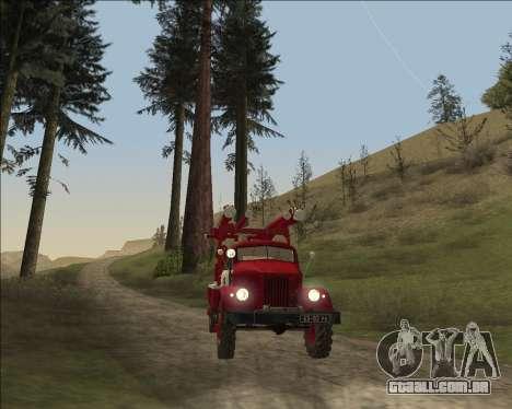 GÁS 63 APG-14 caminhão de bombeiros para GTA San Andreas vista traseira
