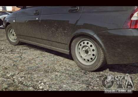 GTA 5 VAZ 2170 traseira vista lateral esquerda
