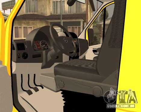 Mersedes-Benz Sprinter Towtruck para GTA San Andreas traseira esquerda vista
