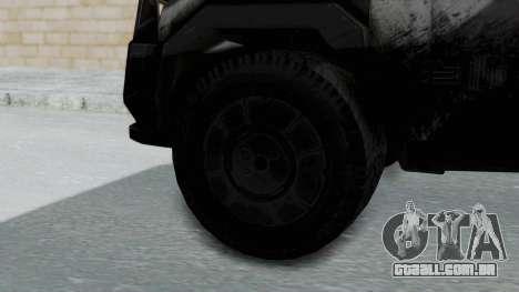 Advanced Warfare Tactical Pickup para GTA San Andreas traseira esquerda vista