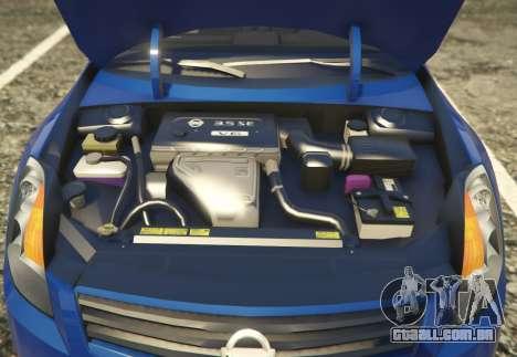 GTA 5 Nissan Altima 3.5SE voltar vista