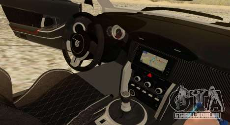 Infernus para GTA San Andreas vista interior