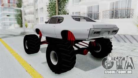Pontiac GTO 1968 Monster Truck para GTA San Andreas esquerda vista