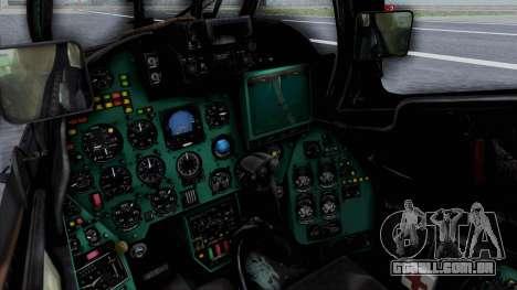 Mi-24V Russian Air Force 39 para GTA San Andreas vista direita