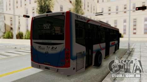 Todo Bus Pompeya II Agrale MT15 Linea 71 para GTA San Andreas traseira esquerda vista