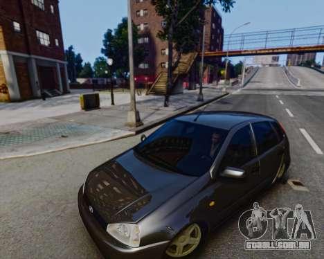 Lada Kalina para GTA 4 esquerda vista