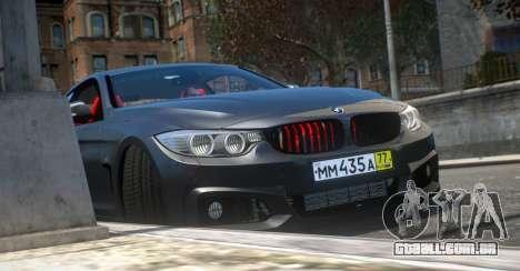 BMW 435i Coupe para GTA 4 vista direita