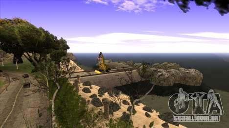 A construção da ponte, e uma densa floresta para GTA San Andreas nono tela