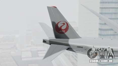 Boeing 777-9X Japan Airlines para GTA San Andreas traseira esquerda vista