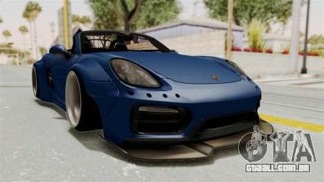 Porsche Boxster Liberty Walk para GTA San Andreas vista direita