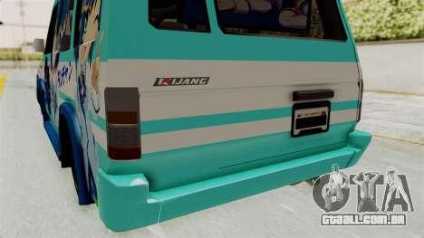 Toyota Kijang Grand Extra Itasha para GTA San Andreas vista superior
