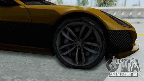 Rimac Concept One para GTA San Andreas vista traseira